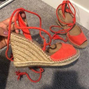 Salmon color sandals